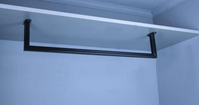 U-Form Kleiderstange-Garderobenstange nach RAL Beschichtet 20x20 mm