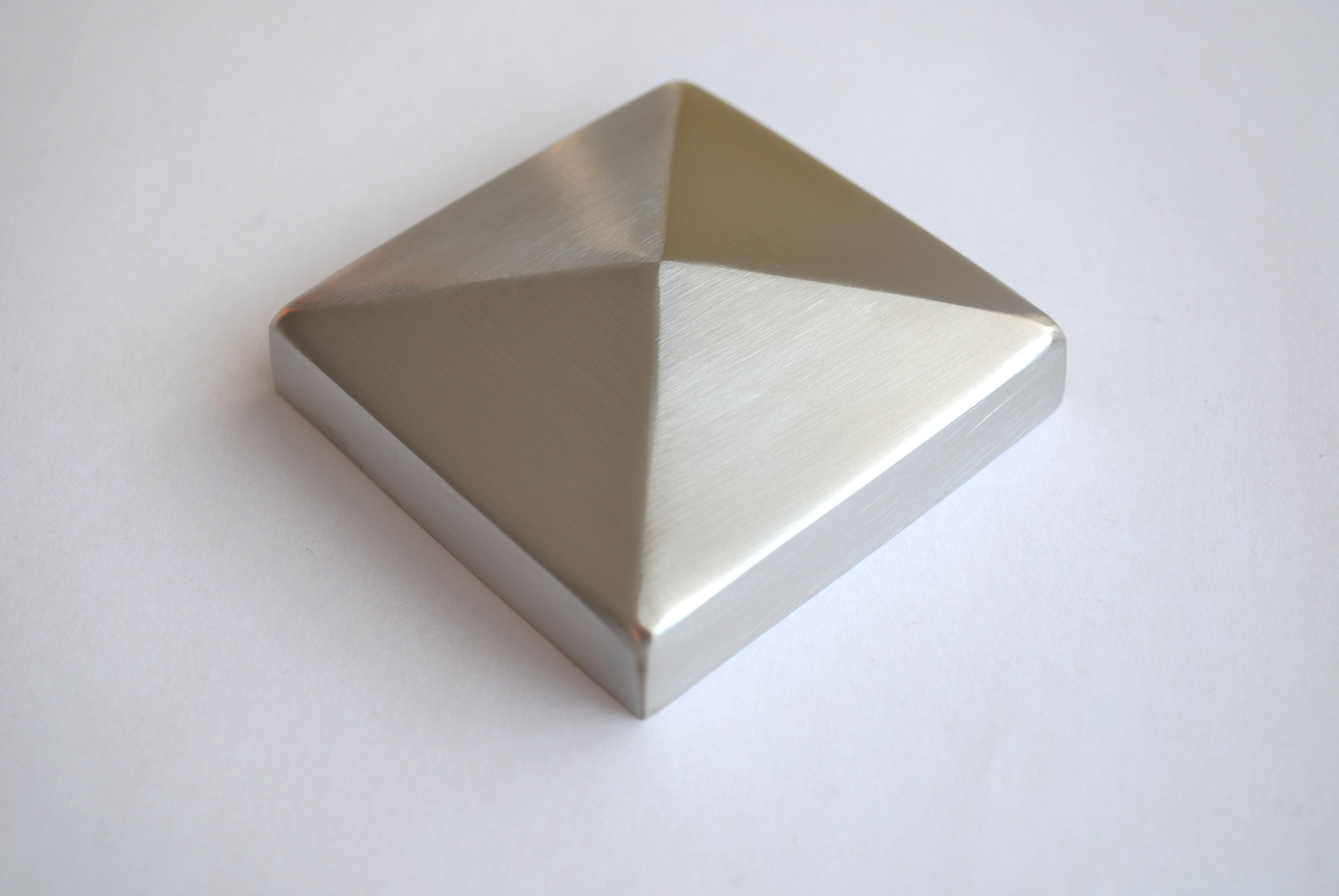 edelstahl pyramidenkappe 80x80 geschliffen. Black Bedroom Furniture Sets. Home Design Ideas
